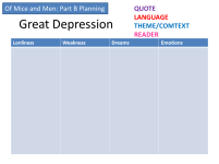 depression plan