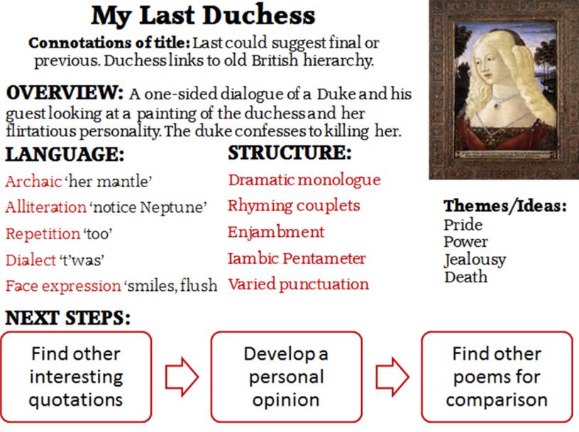 the duchess poem