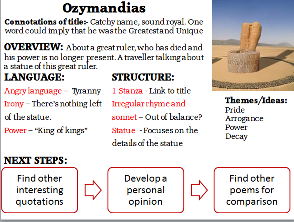 Ozymandias analysis essay