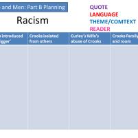 racism plan