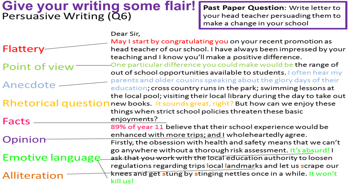 english language gcse essay questions