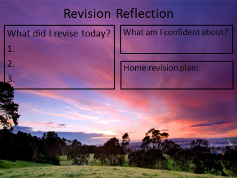 Revision reflection essay english
