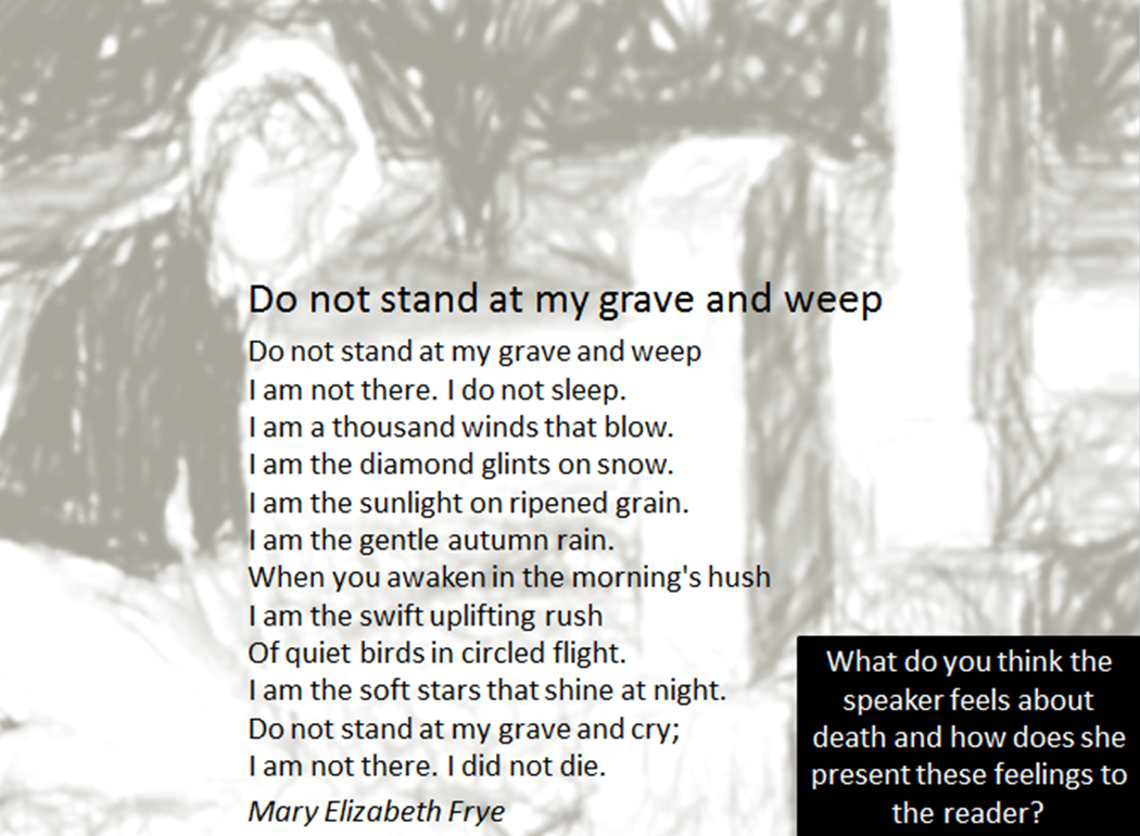 poems explore the theme of death english literature essay Home vantage  on rabindranath tagore's fascination with the theme of death literature on rabindranath tagore's fascination with the theme of death  the english translations of prantik and the other poems in this essay also suffer from the drawback that tagore was an indifferent translator but as the poet and translator of some.