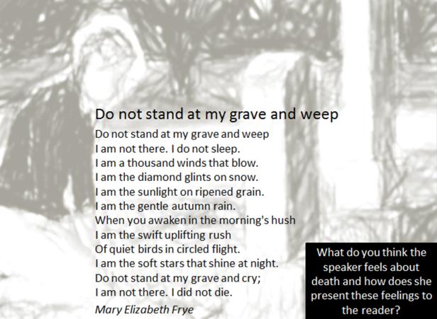 Unseen Poem - grave weep