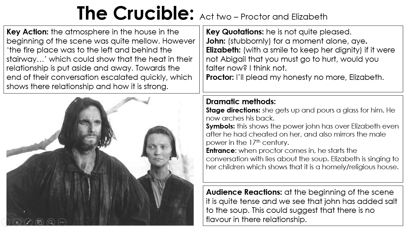 The Crucible Quotes The Crucible Revision Of Key Parts Act 2  Miss Ryan's Gcse