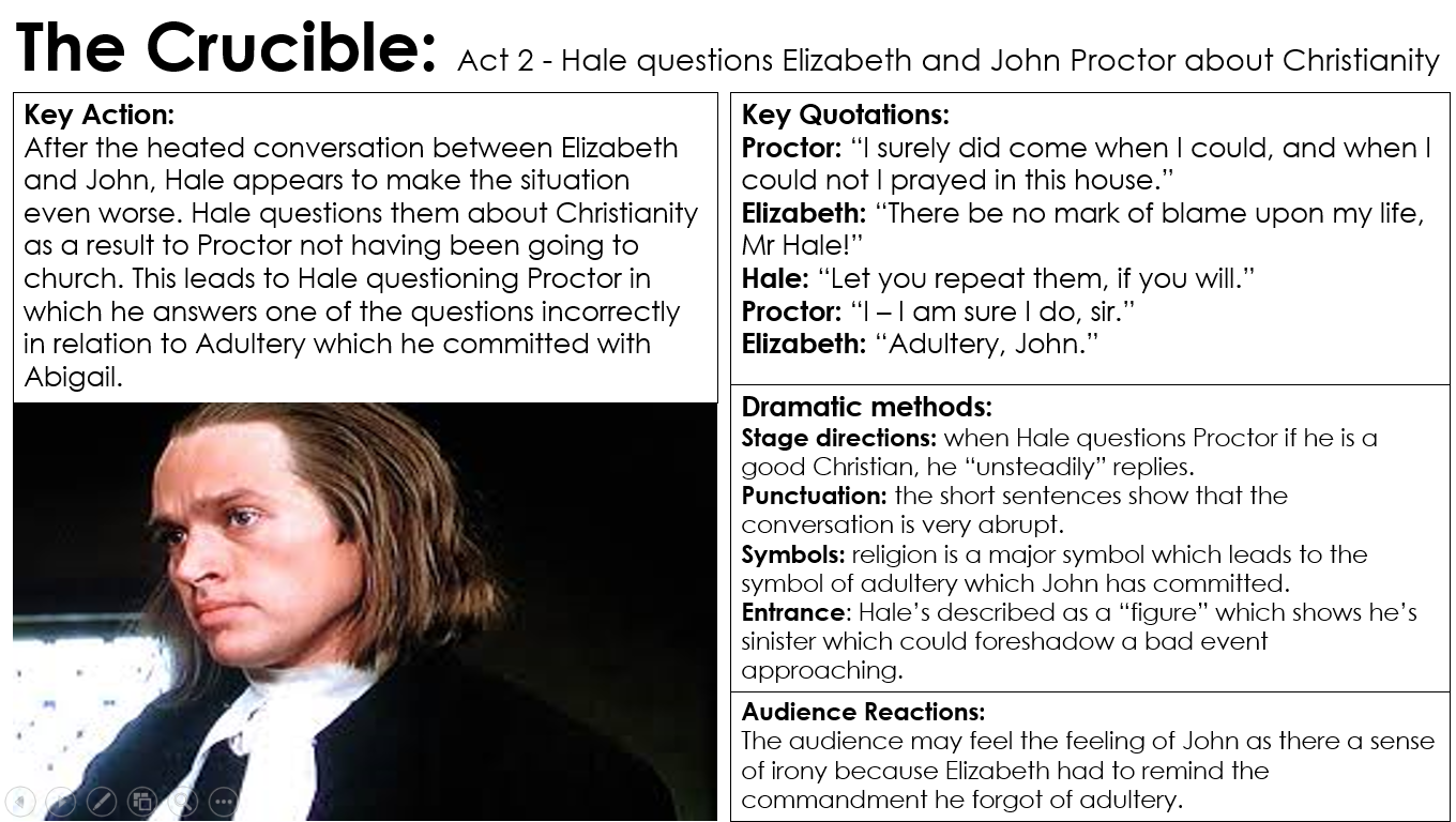 the crucible miss ryan s gcse english media page  act 2 2