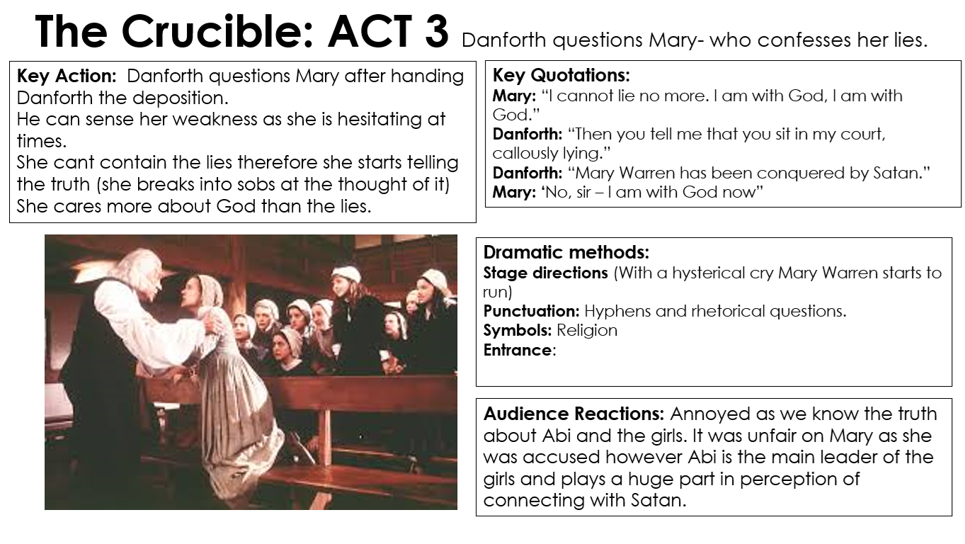 the crucible miss ryan s gcse english media act 3 4