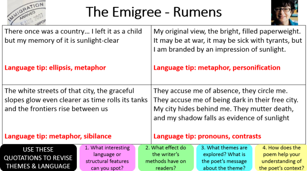 Power and Conflict Quotations: Poems 11-15 – Miss Ryan's
