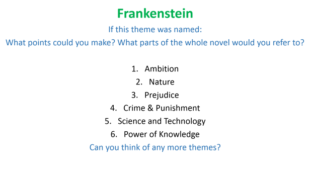 Frankenstein theme revision